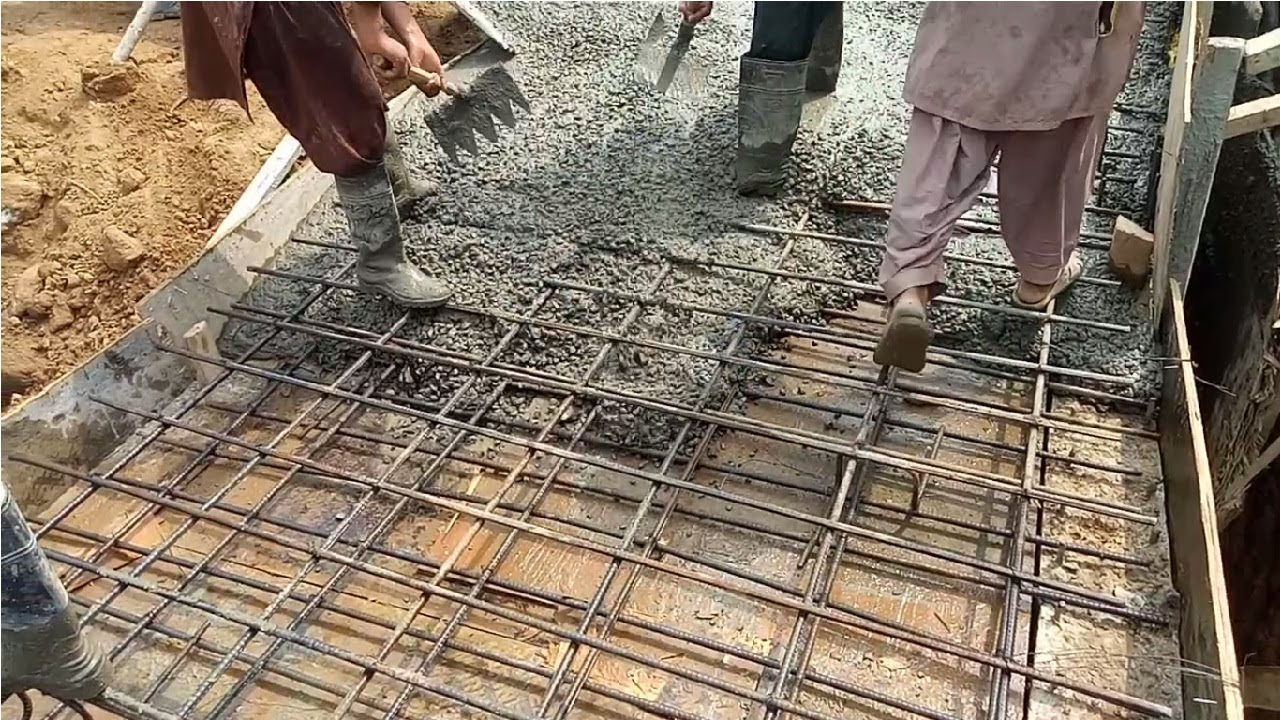 Underground culvert slab reinforcement construction - Engineering