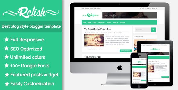 Relish - A Responsive Blog Style Blogger Templates - Kaizentemplate ...