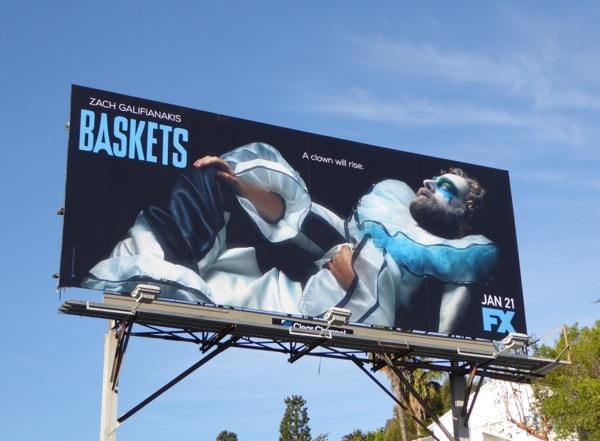 Baskets season 1 TV billboard