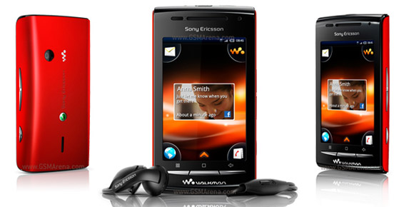 Which version of Android is recommended for Sony Ericsson W8