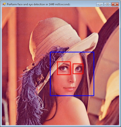 An example of face detection application
