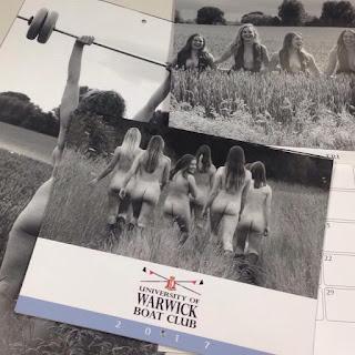 Warwick University Nude Rowing Team Calendar 2017, nude female calendar, Warwick womens team calendar 2017
