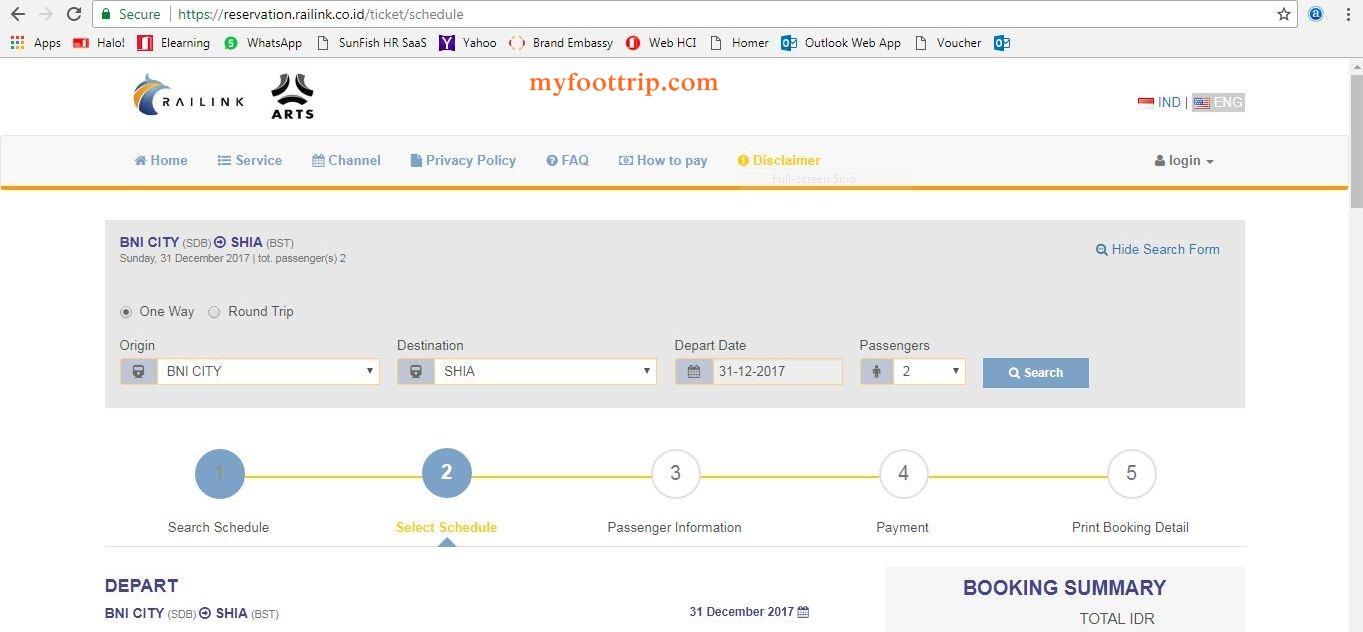 cara booking online tiket kereta bandara