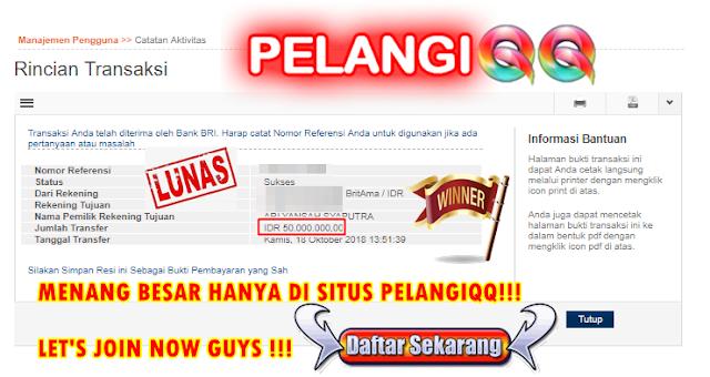 BISA MENANG BESAR HANYA DI SITUS PELANGIQQ BOSKU !!!