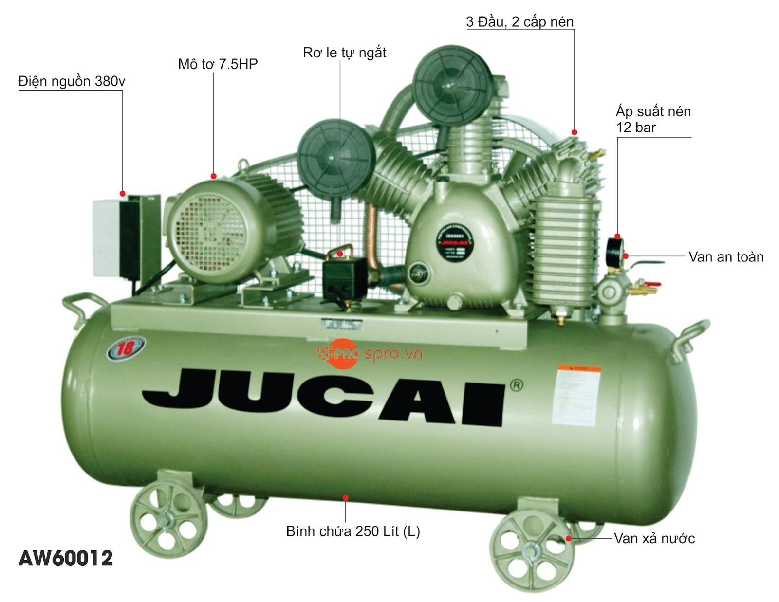 máy nén khí nhập khẩu jucai
