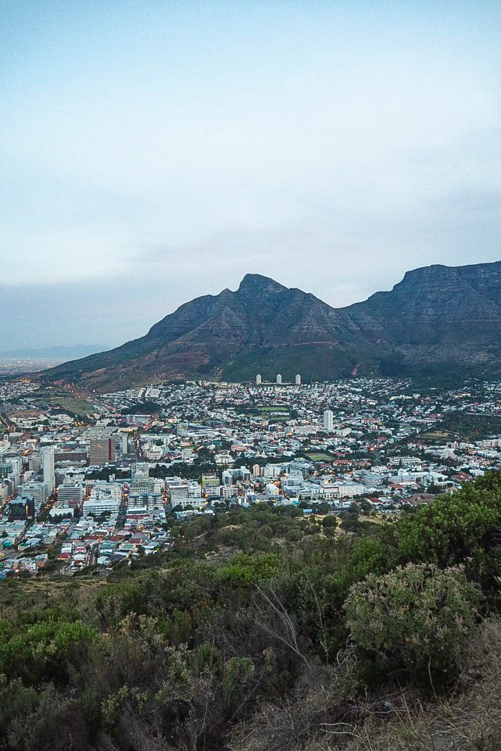 View over Cape Town from Signal Hill