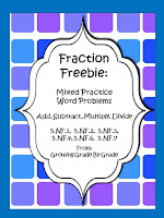 https://www.teacherspayteachers.com/Product/Fraction-Freebie-Mixed-Practice-Word-Problems-5NF1-2-3-4-6-7-539300