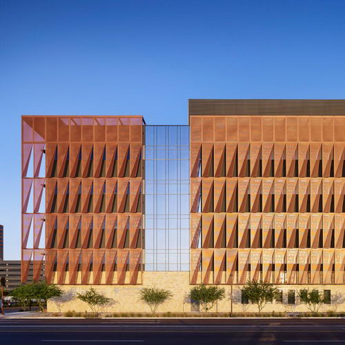 Tinuku ZGF Architects designed facade screen for green buildings University of Arizona Cancer Center