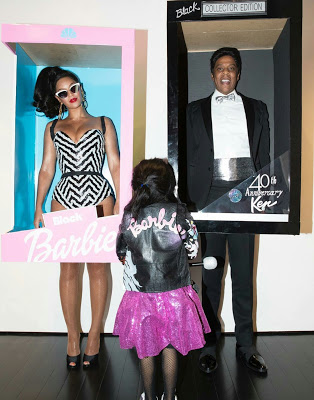 Jay Z and Beyonce dress up as Black Barbie and Ken for Halloween