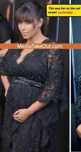 kim kardashian prosthetic baby belly