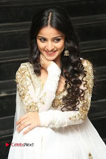Telugu Actress Mahima Makwana Stills in White Desginer Dress at Venkatapuram Movie Logo Launch  0145.JPG