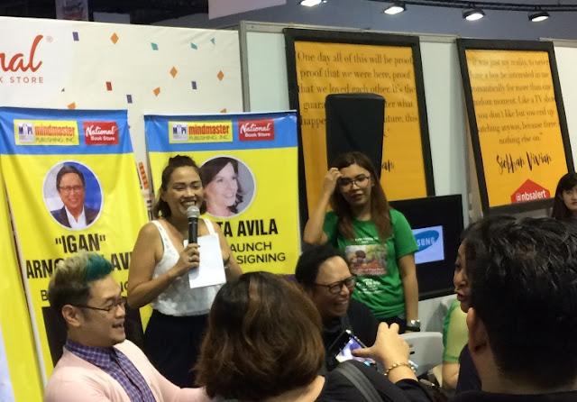 "Book signing / book launch: Mr Fu, Arnold ""Igan"" Clavio, Rita Avila at MIBF 2017"