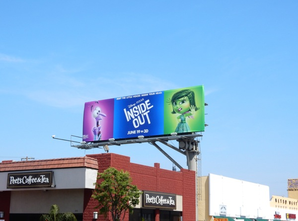 Disney Pixar Inside Out billboard