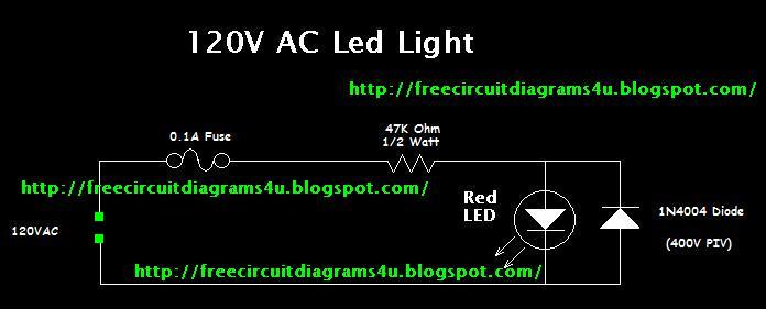 Free Circuit Diagrams 4u 120v Led Lamp Circuit Diagram