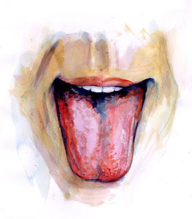 sketsa lidah