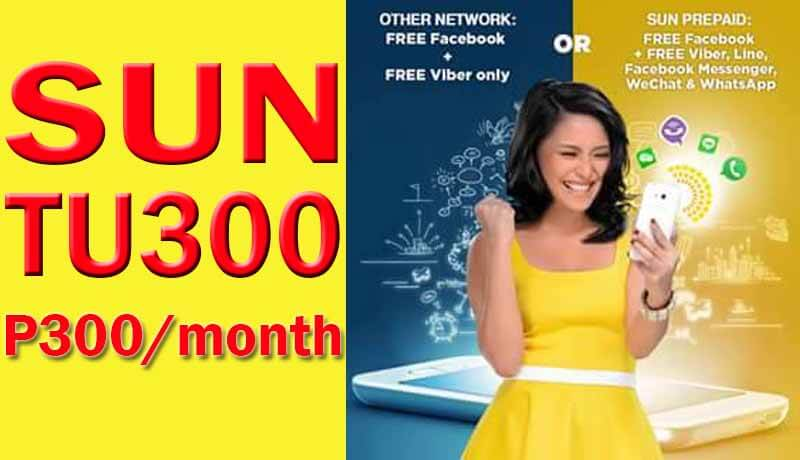 Sun Cellular TU300 – 30 Days FREE Facebook, Unli Text with Call