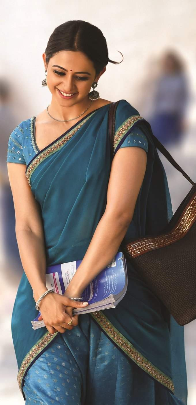 Beautiful Hyderabad Girl In Blue Lehenga Choli Rakul Preet Singh
