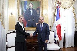 Presidente Danilo Medina recibe a nueva representante del PNUD en el país