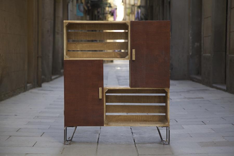 Muebles de cocina con material reciclado for Muebles de cocina reciclados