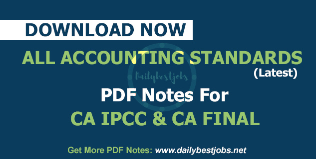 IPCC Accounting Standards Short Notes PDF