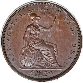 British Coins One Penny 1826 Britannia