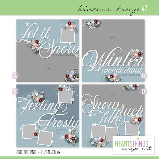 Guest Creative Team, Annemarie, for Heartstrings Scrap Art CT -  Winter's Freeze #2