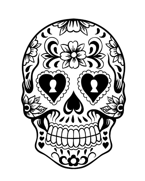 Day Of The Day Sugar Skull Coloring Page