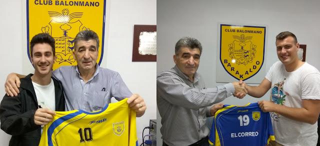 Balonmano | El Barakaldo renueva a Lander Elorduy y ficha al lateral Jorge Gallego