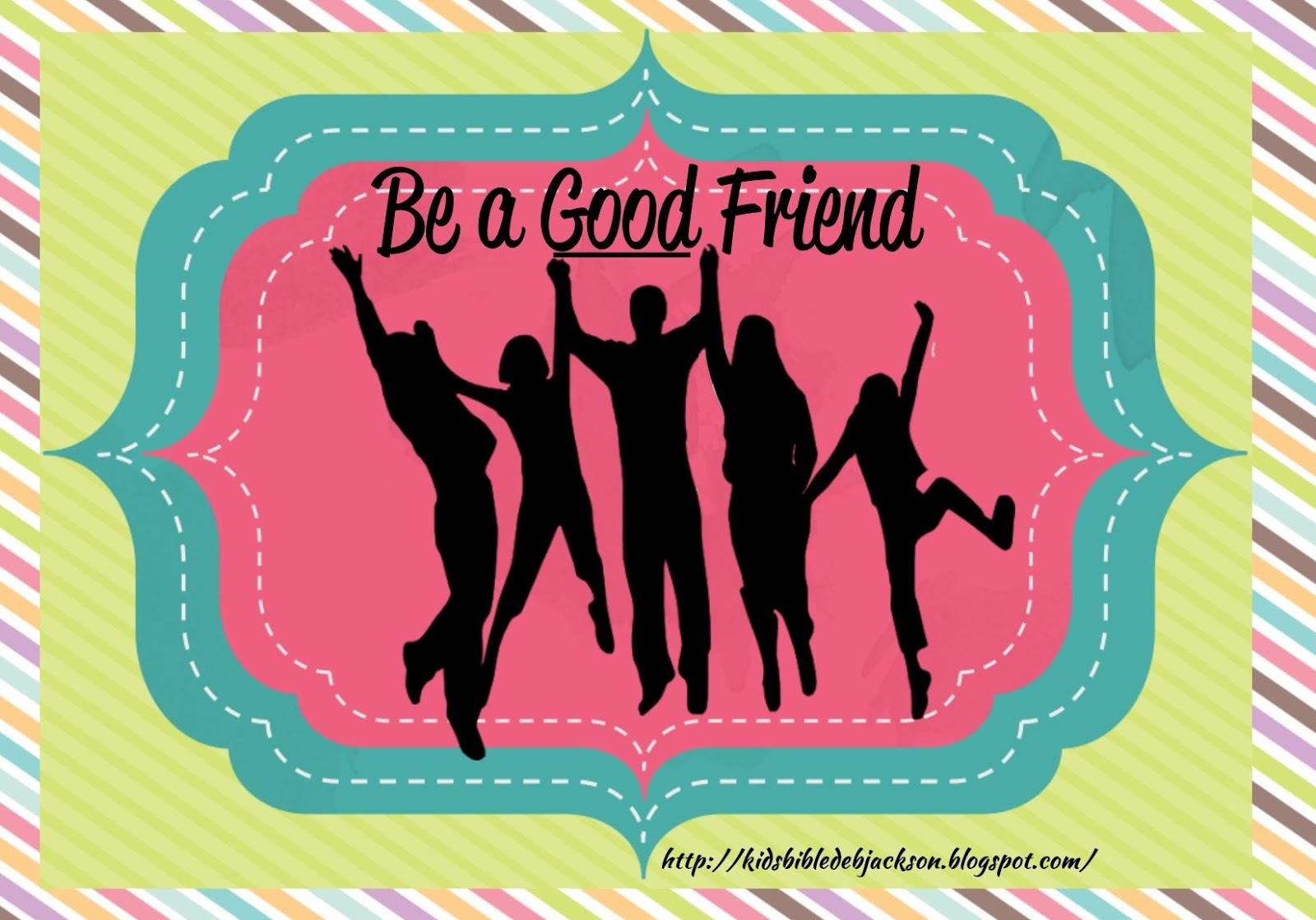 Bible Fun For Kids Teen Tuesday Being A Good Friend