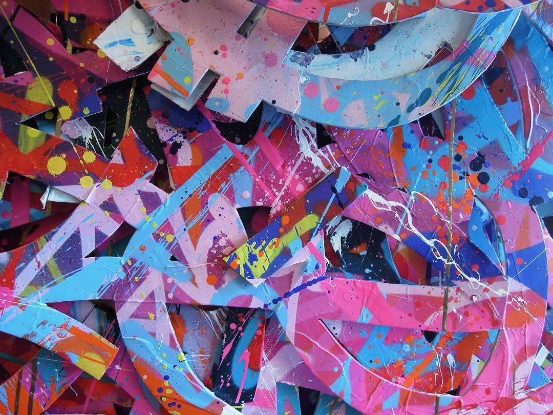 graffiti colorée de zenoy