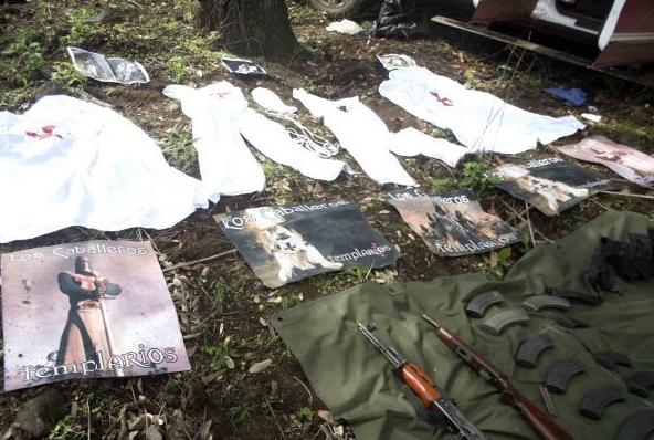Mexico Drug War: I am a Templar Knight Scrawled on 16
