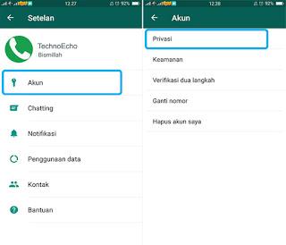 setting status online pada whatsapp