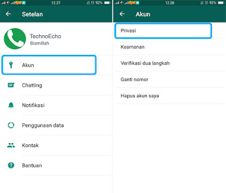 setting the online status on whatsapp