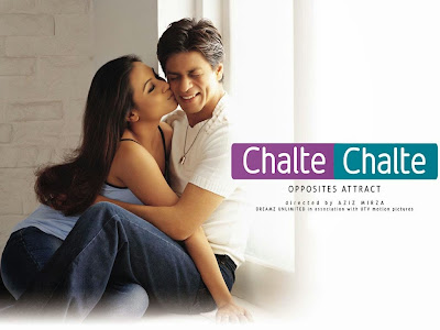 Poster Of Bollywood Movie Chalte Chalte (2003) 300MB Compressed Small Size Pc Movie Free Download worldfree4u.com