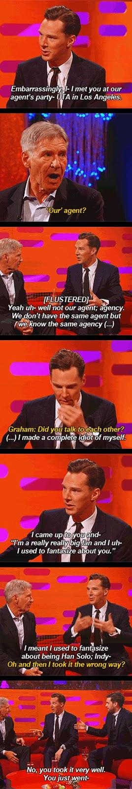Benedict Cumberbatch met Harrison Ford