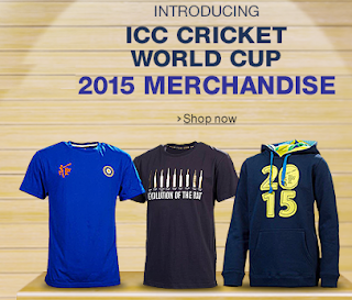 ICC Cricket World Cup 2015 Merchandise upto 50% off and 20% off from Rs. 159 at Amazon