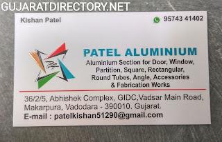 PATEL ALUMINIUM - 9574341402 aluminium section material