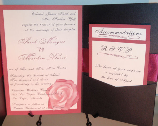 How Big Are Wedding Invitations: 'Pocket Fold Invitations' Small Package For BIG DEAL