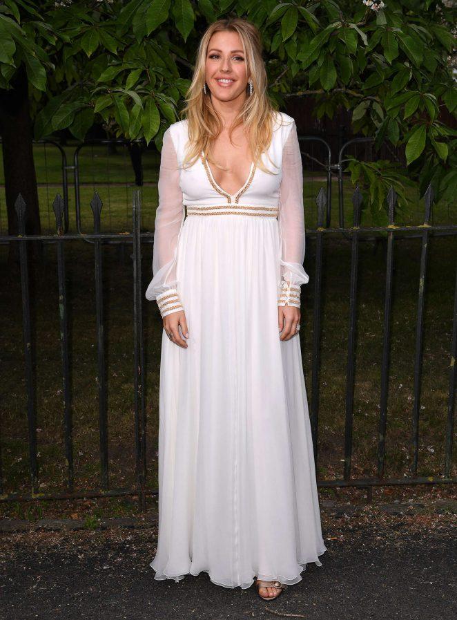 English Singer Ellie Goulding Stills In White Dress