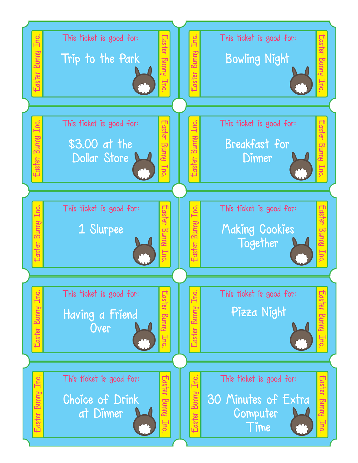 Free Easter Egg Tickets free Printable files for Parents – Tickets Printable