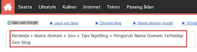 contoh breadcumb template blog