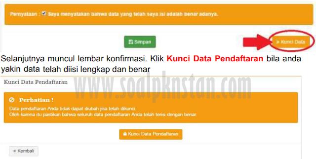 Kunci Data Pendaftaran STAN