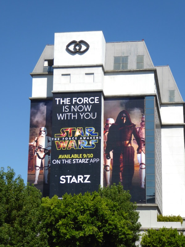 Giant Star Wars Force Awakens 2016 Starz billboard