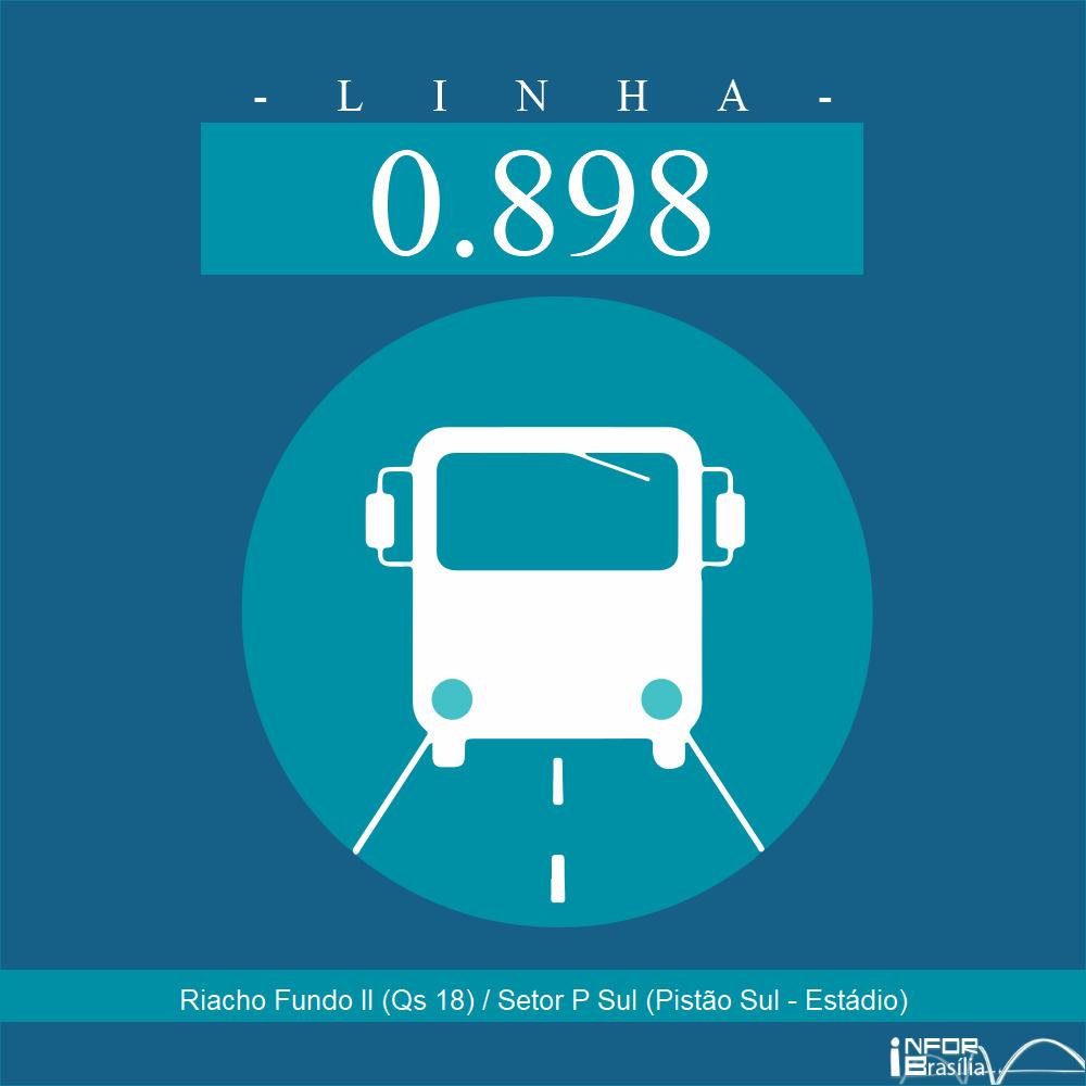 Horário de ônibus e itinerário 0.898 - Riacho Fundo II (Qs 18) / Setor P Sul (Pistão Sul - Estádio)