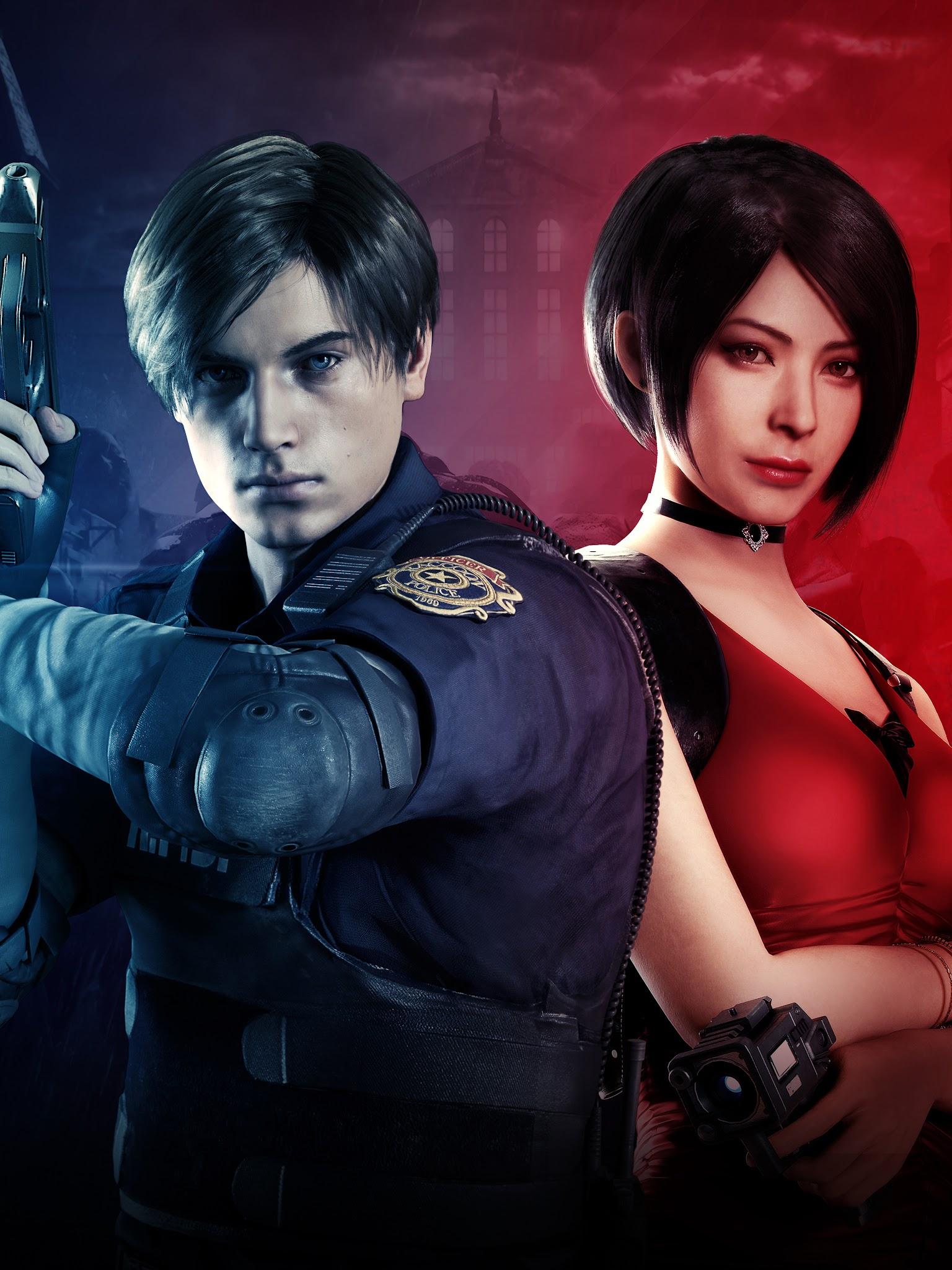 Leon S Kennedy Ada Wong Resident Evil 2 8k Wallpaper 7