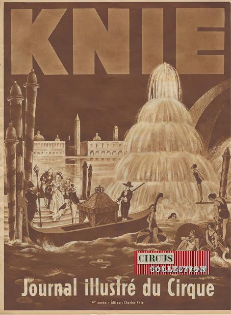 Programme illustré de la saison 1934 cu cirque Knie