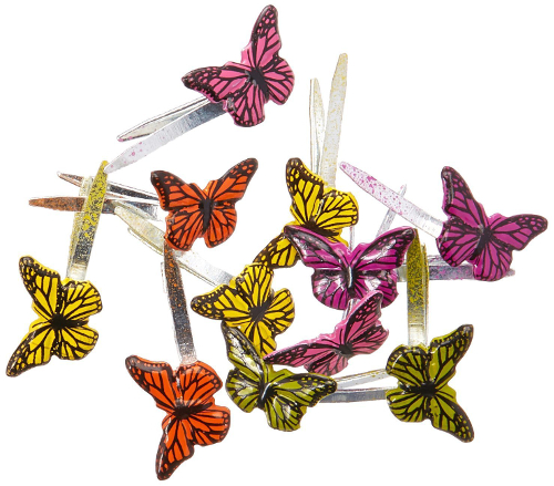 Eyelet Outlet Shape Brads-Mini Butterfly 12/Pkg
