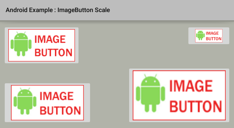 How to resize/scale an ImageButton in Android