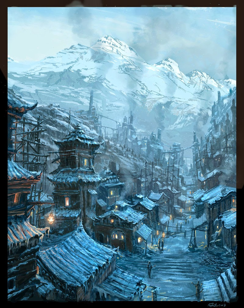 15-Steampunk-Chinese-Village-Raphael-Lacoste-Matte-Paintings-and-Concept-Worlds