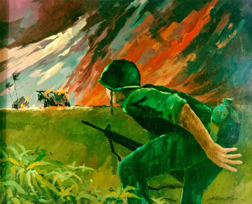 Attack at Twilight, Vietnam 1966 by Roger Blum